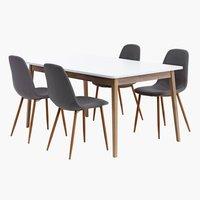 Miza GAMMELGAB d160 + 4 stoli JONSTRUP