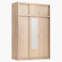 Wardrobe GENTOFTE 3 doors brushed oak