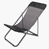 Beach chair RUNEBAKKEN black
