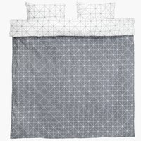 Duvet cover set ATLA DBL grey