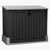 Storage box HENNE W132xH110xD74 black