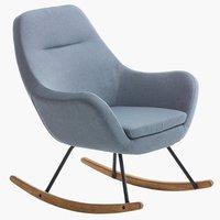 Fotelja za ljuljanje NEBEL siv.zel.