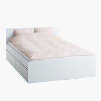 Ram kreveta LIMFJORDEN 140x200cm bela