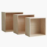Wall shelves ILBRO set of 3 natural
