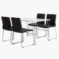 Miza BANNERUP d120 + 4 stoli HAMMEL