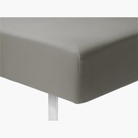 Elastické prostěradlo 160x200x25cm šedá
