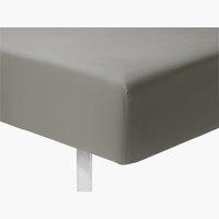 Cearsaf elastic Micro 160x200x25cm gri