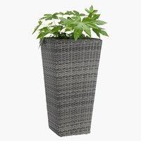 Flower pot BLOMMOR W36xL36xH70 grey