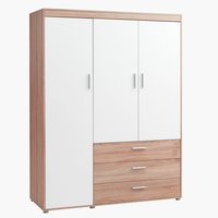 Wardrobe SLAGELSE 150x198 oak/white
