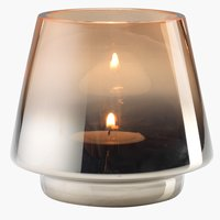 Tealight holder BRYNJE D10xH9cm glass