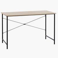 Íróasztal VANDBORG 60x120 tölgy/fekete