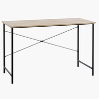 Desk VANDBORG 60x120 cm oak/black