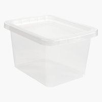 Caja BASIC BOX 9L con tapa transparente