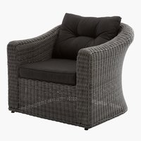 Fauteuil lounge TAMBOHUSE gris