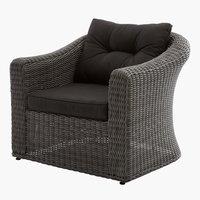 Lounge stolica TAMBOHUSE siva