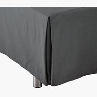 Sängkappa 90x200x45cm grå