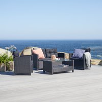 Lounge set MORA 4 pers. black