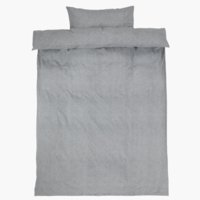 Sengesett VITA flanell grå
