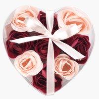Soap FLEN roses 9pcs/pk pink