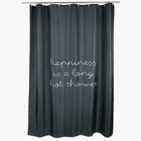 Shower curtain RUNEMO 150x200 black