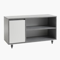 TV bench BILLUND 1 door white/concrete