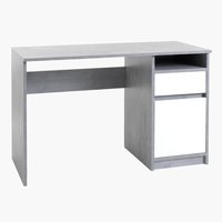 Desk BILLUND 54x120 concrete/white