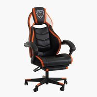 Gaming chair GAMBORG black/orange