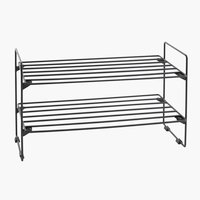Shoe rack GAMBY 2 shlv. black