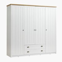 Wardrobe MARKSKEL 212x210 white/oak
