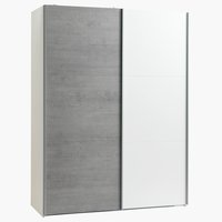 Kledingkast TARP 151x201 betonlook/wit