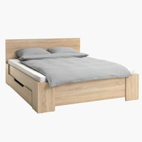 Bed frame HALD King oak