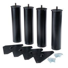 JYSK Poten Ø5xH20cm zwart set van 4