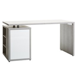 JYSK Bureau ULLITS 69x140 beton/wit hoogglans
