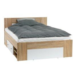 JYSK Bedframe FAVRBO 140x200cm eiken/wit