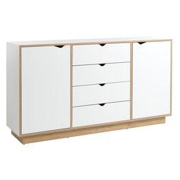 JYSK Dressoir MAMMEN 2 deuren 4 lades wit