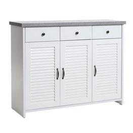 JYSK Dressoir MANDERUP 3 deurs wit/betonlook